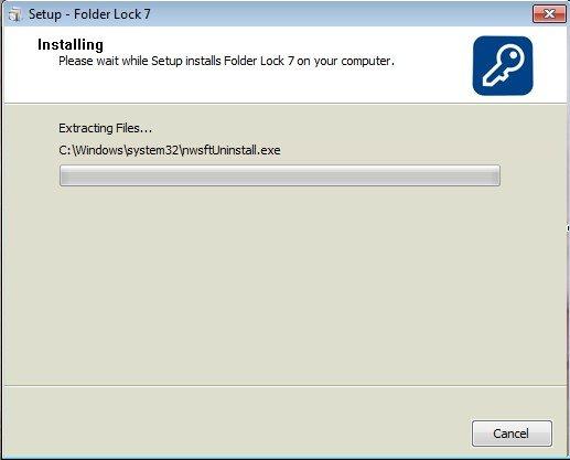 Установка программы Folder Lock