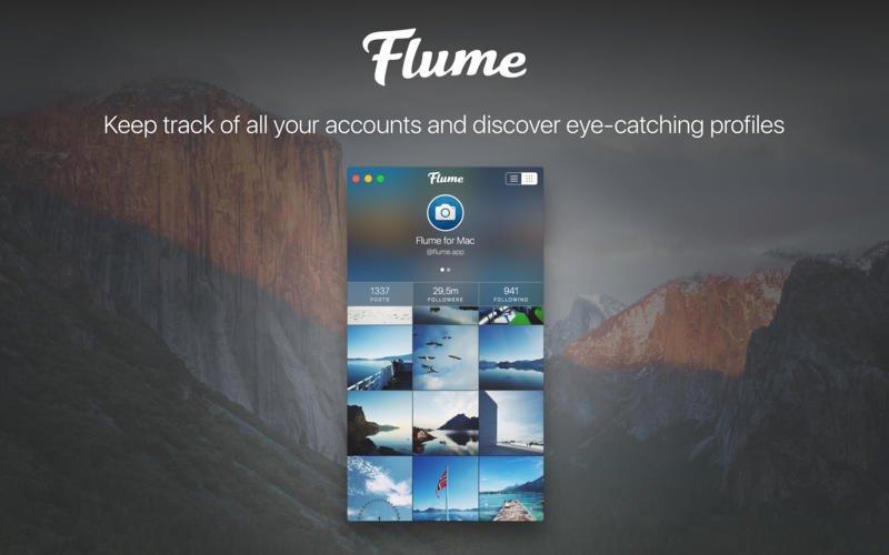 Flume - это полнофункциональный клиент Instagram
