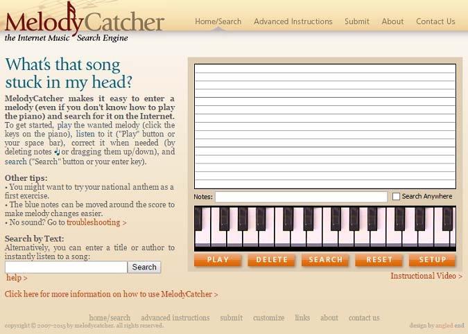 MelodyCatcher поможет с поиском названия песни, которую вы ищете