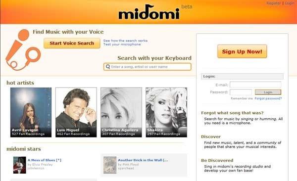 Midomi сможет определить, что это за песня засела у вас в голове