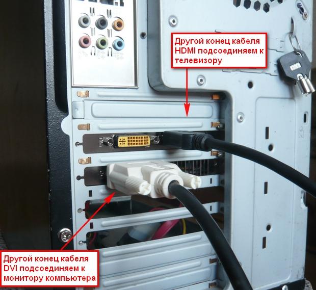 Подключение телевизора к компьютеру с помощью HDMI