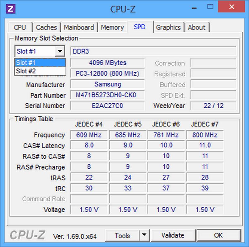 Получение информации об оперативной памяти с помощью CPU-Z