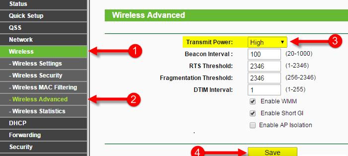 Пошаговое изменение мощности передачи сигнала