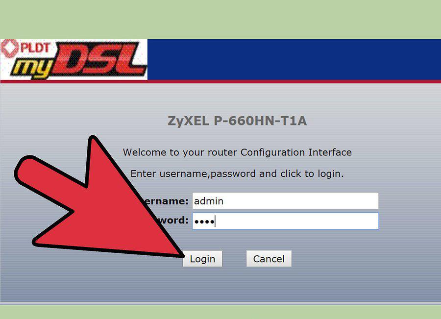 Проверяем заводской логин и пароль