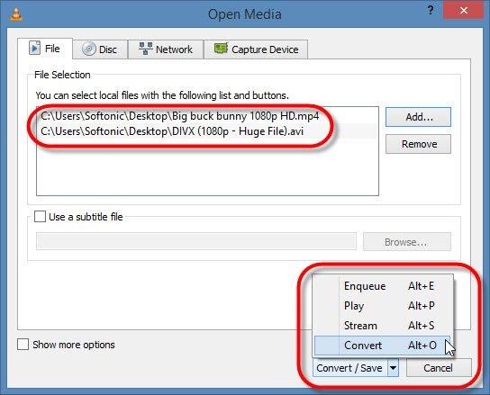 С помощью кнопки «Добавить» выберите один или несколько видеофайлов для преобразования.