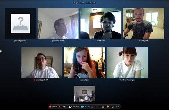В Skype можно организовывать конференц-звонки с общим числом участников до 25 человек одновременно