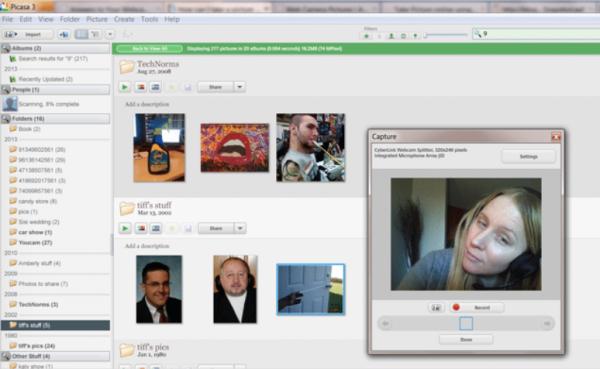 Диалоговое окно, в котором автоматически обнаруживается ваша веб-камера