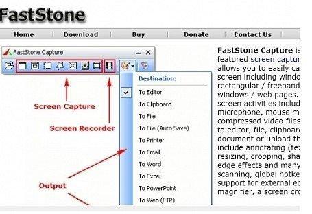 Функционал программы FastStoneCapture