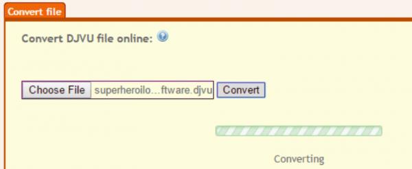 Интерфейс Convert DJVU to PDF Online Free