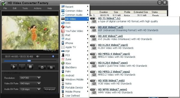 Интерфейс Free HD Video Converter Factory