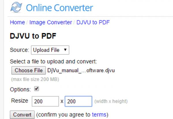 Интерфейс Online Converter