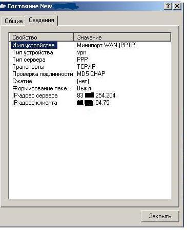 «Интернет-протокол» клиента