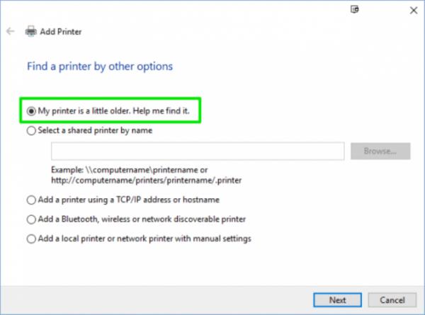 Кликаем на кнопку «Найти принтер» и следуем всем инструкциям в открывшемся окне «Устранение неполадок»