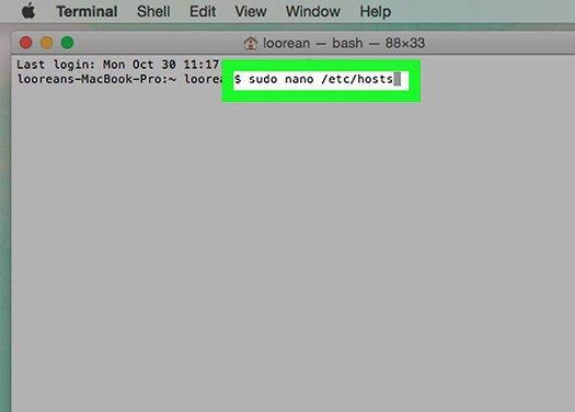 Набираем команду файла hosts