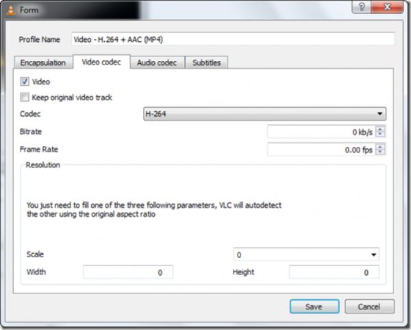 Настройка аудио и видео кодеков