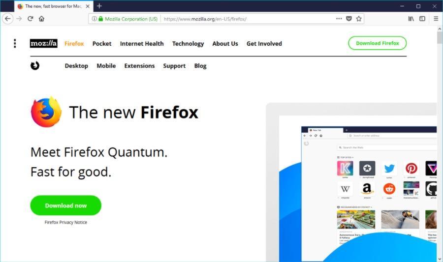 Новый Firefox намного быстрее, чем его предшественники