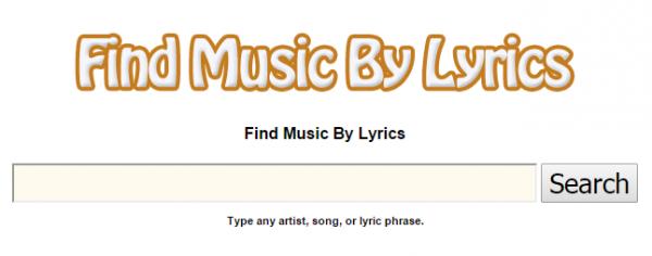 Онлайн-приложение Find Music By Lyrics