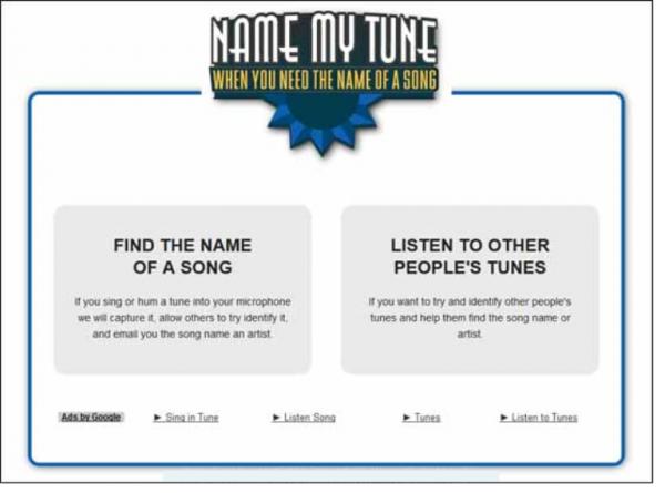 Онлайн-приложение Name My Tune
