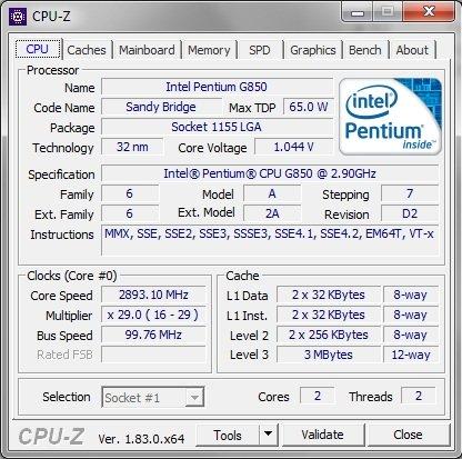 Открываем приложение, нажимаем на вкладку «CPU» и находим строку «Package»