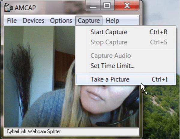 Переходим в «Capture» и выбираем «Take picture»