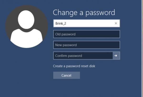 Последовательно вводим старый и новый пароли, нажимаем на Enter