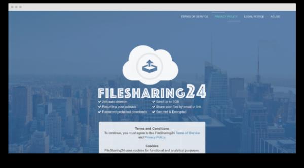 Сервис для отправки больших файлов FileSharing24