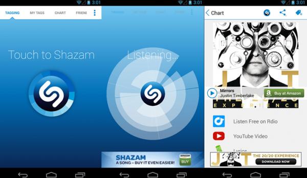 Скачиваем дополнение Shazam на мобильное устройство