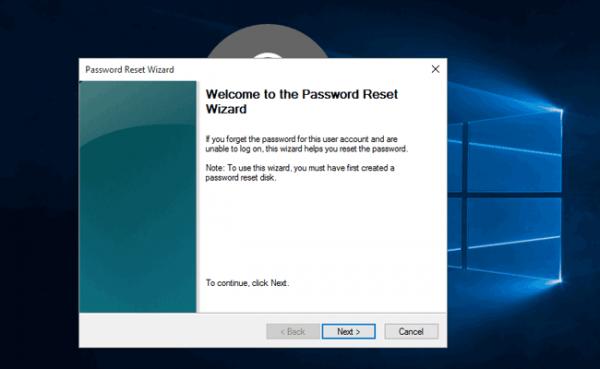 Следуем всем инструкциям мастера сброса пароля