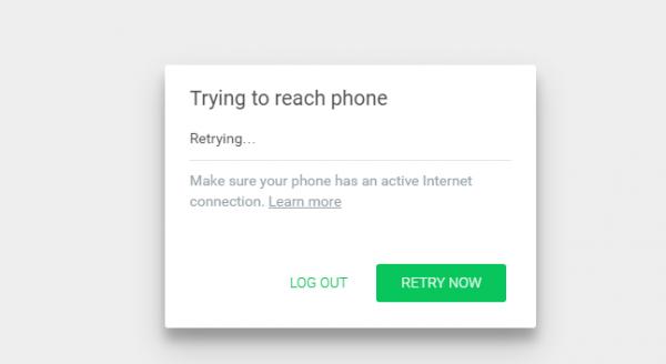 Сообщение об ошибке при запуске WhatsApp на компьютере