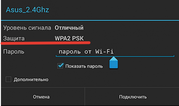Степень защиты WPA2-PSK