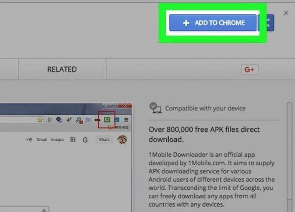 В интернет-магазине Chrome находим расширение 1Mobile Downloader, нажимаем «Add to Chrome»