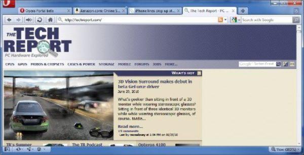 Веб-сайт после блокировки рекламы