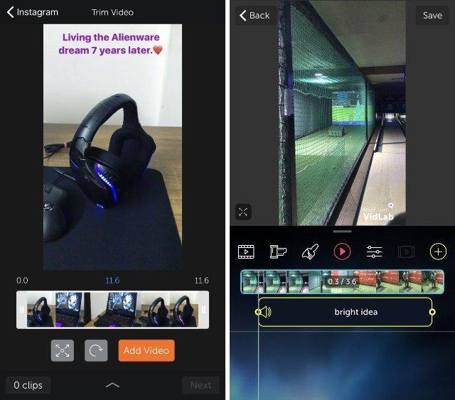 Vidlab - практически полноценный видеоредактор для вашего мобильного устройства