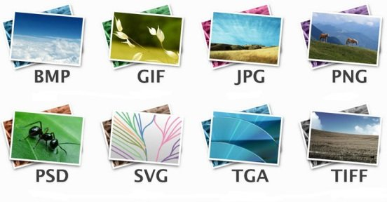 Виды форматов изображений