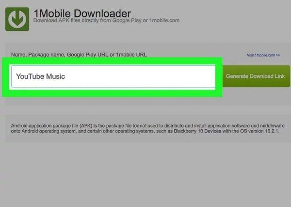 Вводим имя приложения или его URL-адрес из Google Play Store