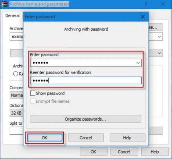 Вводим свой пароль дважды, затем нажимаем «ОК»