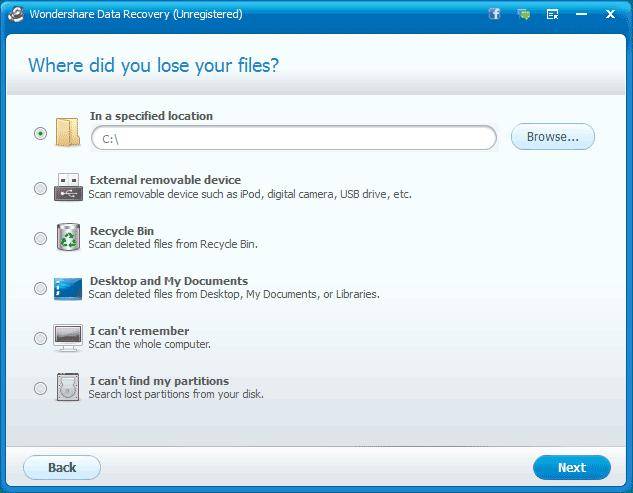 Выбираем устройство, с которого нужно восстанавливать файлы