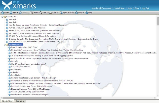 Xmarks - надежный инструмент для синхронизации закладок в разных веб-браузерах