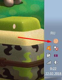 Значок Clownfish Voice Changer на панели инструментов