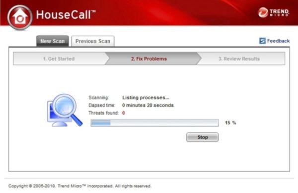 Бесплатный сервис TrendMicro Housecall