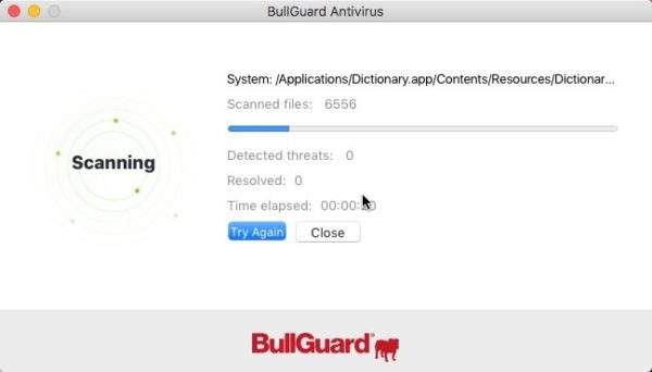 Бесплатный сканер BullGuard Virus Scan