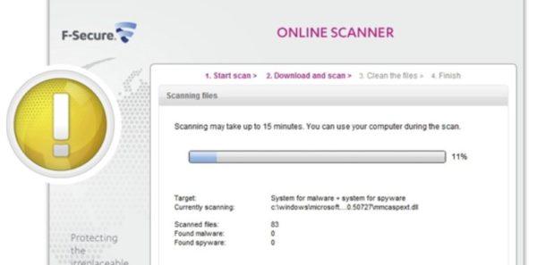 Бесплатный сканер F-Secure Online