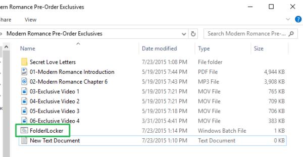 Дважды щелкаем на «FolderLocker»