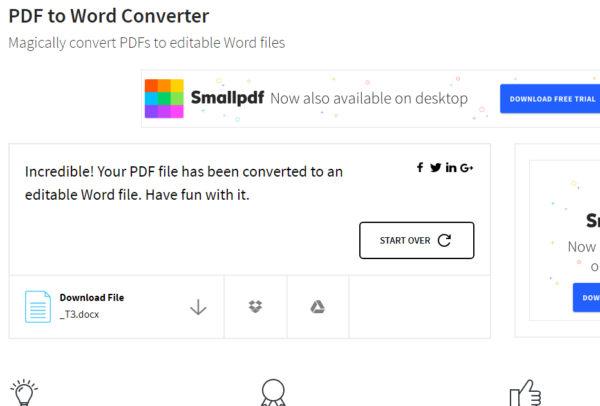 Файл конвертирован в WORD