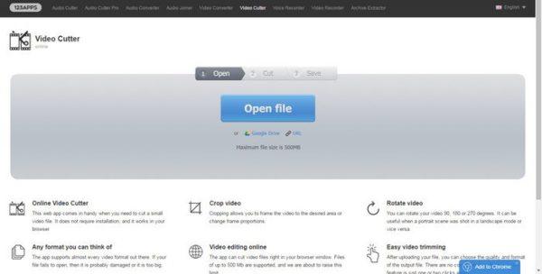 Импортируем файл или вводим URL целевого видео