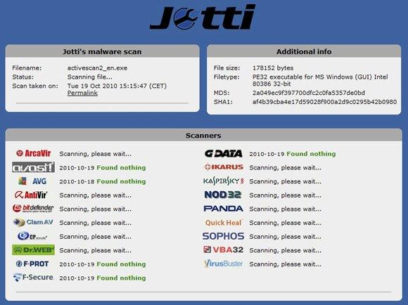 Сервис Jotti