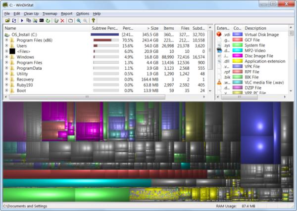 Сканируем систему программой WinDirStat