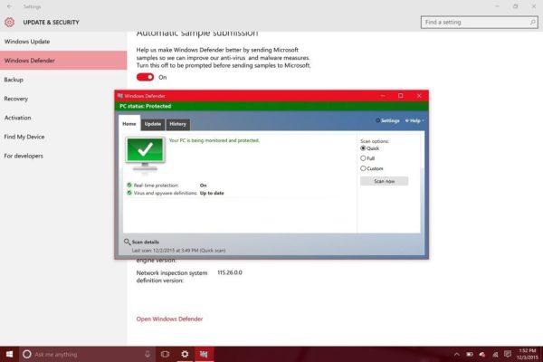 Средство защиты Windows Defender