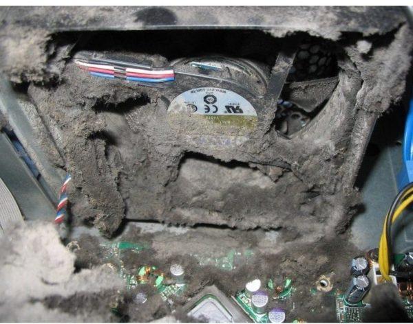 Такое скопление частиц пыли приводит к перегреву устройства и нарушению его работы