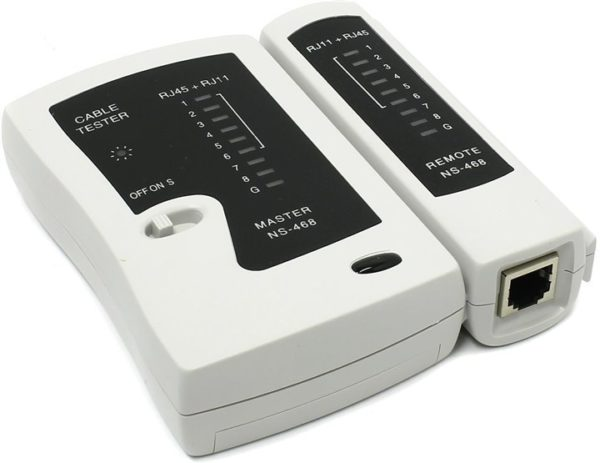 Тестер для проверки обжатого кабеля